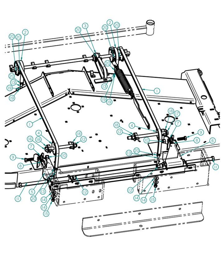 dixie chopper 2014 xcaliber 5474 twin mower deck lift parts