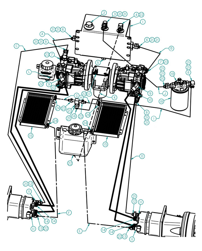 dixie chopper xcaliber twin hydraulic components