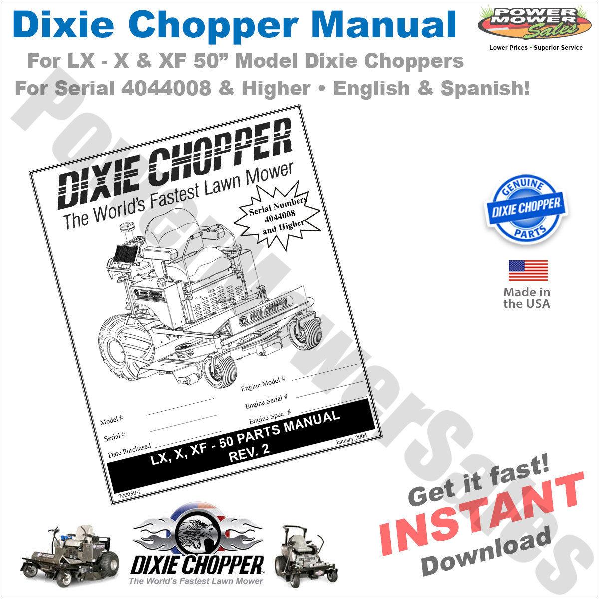 Dixie Chopper Xt3000 manual